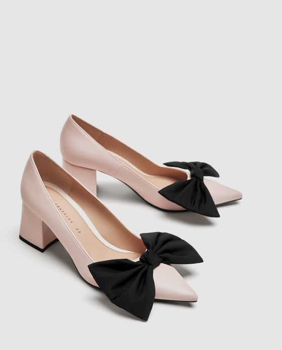 Image 3 of MEDIUM HEEL COURT SHOES WITH BOW from Zara