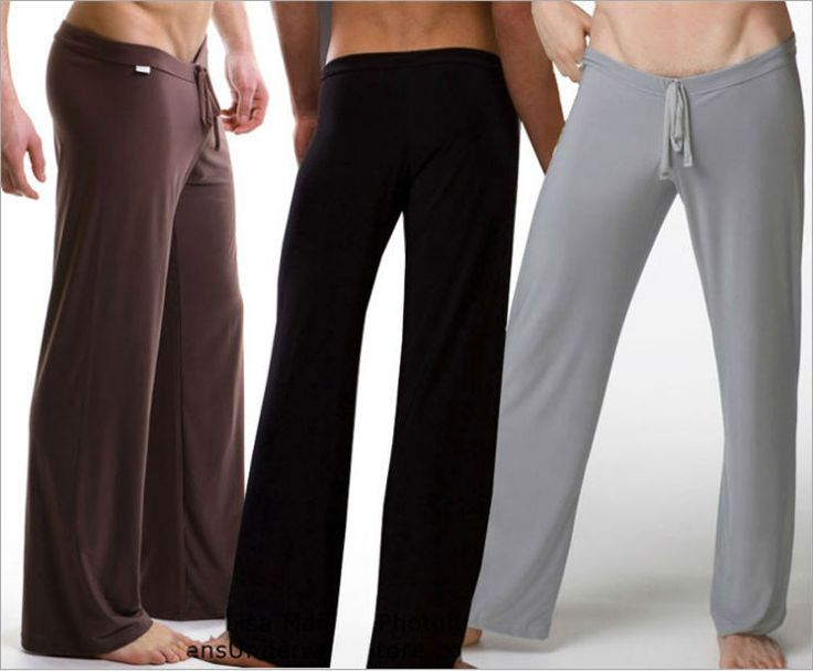 Famous Brand Smooth Yoga Suit Loose Low Waist Sleep Bottoms For Man /Sexy Men's Underwear Home Long Pants Plus/Large Size CK2888