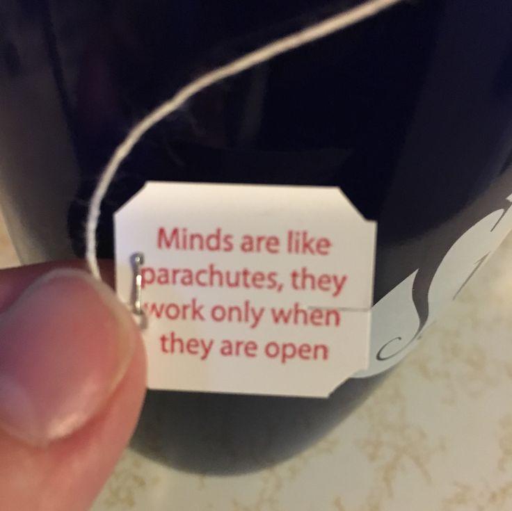 Wisdom from a tea bag