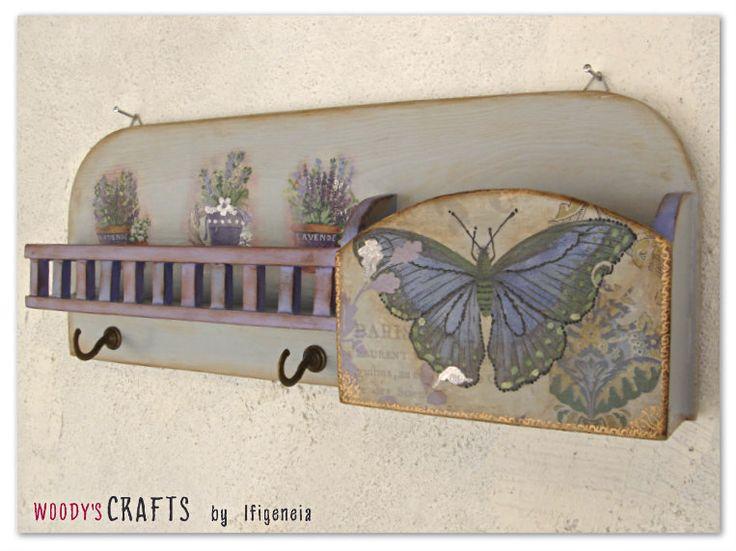 Ξύλινη Χειροποίητη Κλειδοθήκη-Γραμματοθήκη   Κλειδοθήκες-Γραμματοθήκες   Διακοσμητικά Τοίχου   Woody's Crafts by Ifigeneia   Μάθε περισσότερα στη διεύθυνση: http://j.mp/woodys-crafts-gallery-kleidothikes-grammatothikes