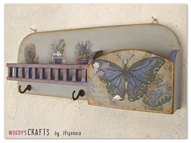 Ξύλινη Χειροποίητη Κλειδοθήκη-Γραμματοθήκη | Κλειδοθήκες-Γραμματοθήκες | Διακοσμητικά Τοίχου | Woody's Crafts by Ifigeneia | Μάθε περισσότερα στη διεύθυνση: http://j.mp/woodys-crafts-gallery-kleidothikes-grammatothikes
