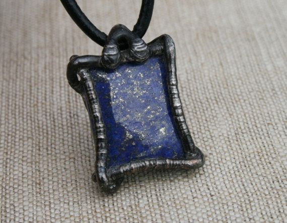 men necklace men pendant lapis lazuli by Blacksmithworkshop, #mennecklace, #menpendant