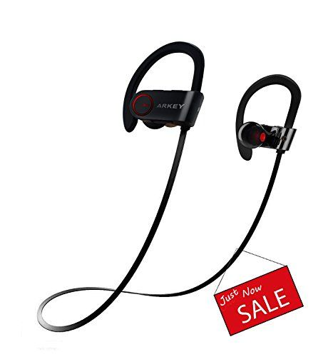 Arkey AQ6 Bluetooth Earbuds,Wireless sweatproof sports HD Stereo Beats sound Quality Bluetooth headphones/headset for iPhone,Android.