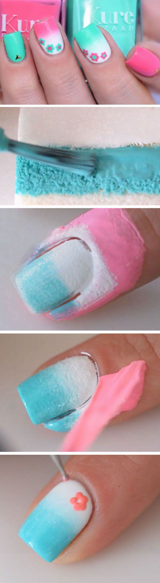 Pink + Blue | Awesome Spring Nails Design for Short Nails | Easy Summer Nail Art Ideas