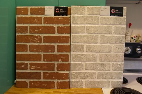 12 wall panels that look like brick and stone