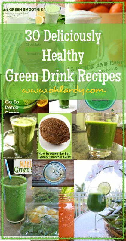 30 Deliciously Healthy Green Drink Recipes - www.ohlardy.com