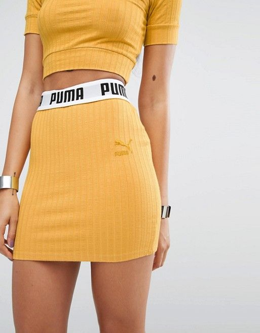 Puma | Puma Exclusive To ASOS Ribbed Mini Skirt