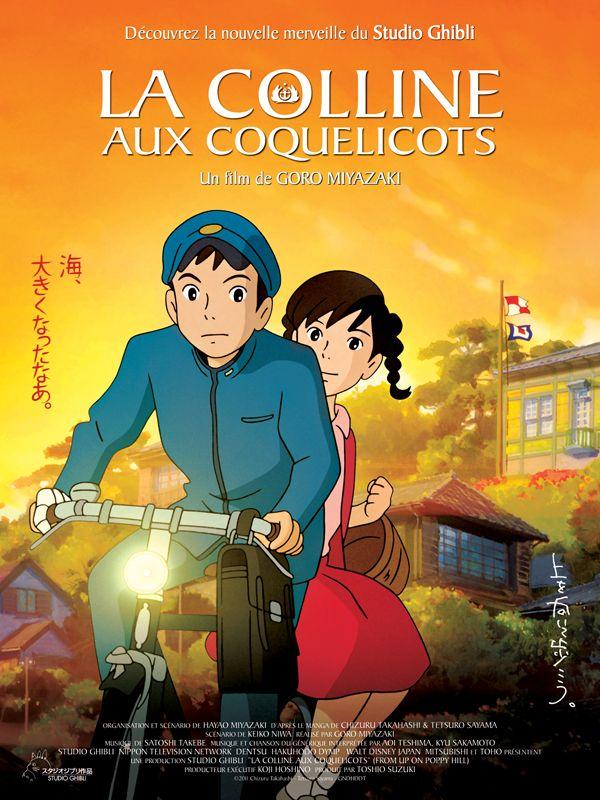 La Colline aux Coquelicots est un film de Goro Miyazaki avec Masami Nagasawa, Junichi Okada. Synopsis : Umi est une jeune lycéenne qui vit dans une vieille bâtisse perchée au sommet d'une colline surplombant le port de Yok