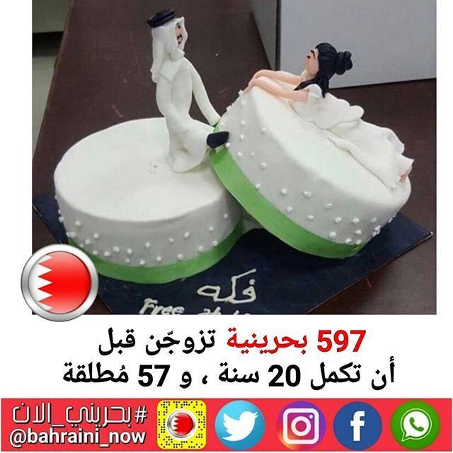 597 بحرينية تزوجن قبل أن تكمل 20 سنة و 57 مطلقة أشارت إحصائية رسمية حديثة صادرة عن وزارة العدل والأوقاف والشؤون الإسلامية إلى أ Desserts Cake Birthday Cake