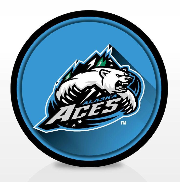 ECHL Alaska Aces Puck