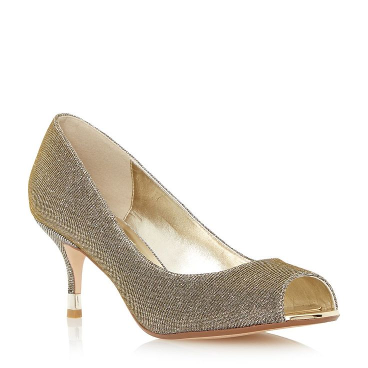 Mink Silk Peep toe court shoes with diamante brooch LeNbp