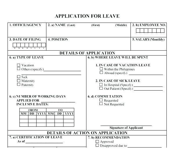 Free Leave Application Form Template Nz Learn The Truth About Free