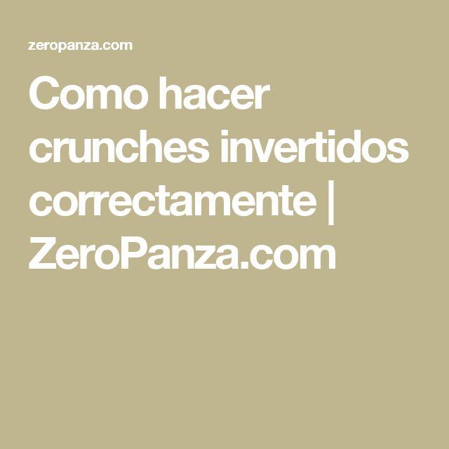 Como hacer crunches invertidos correctamente | ZeroPanza.com