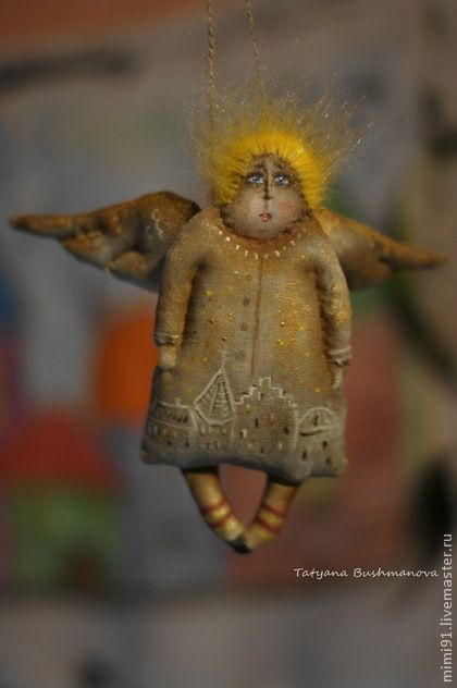 angel yellow dreams. Handmade.