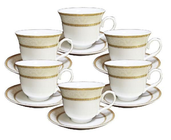 Gold Border Wholesale Tea Cups and Saucers