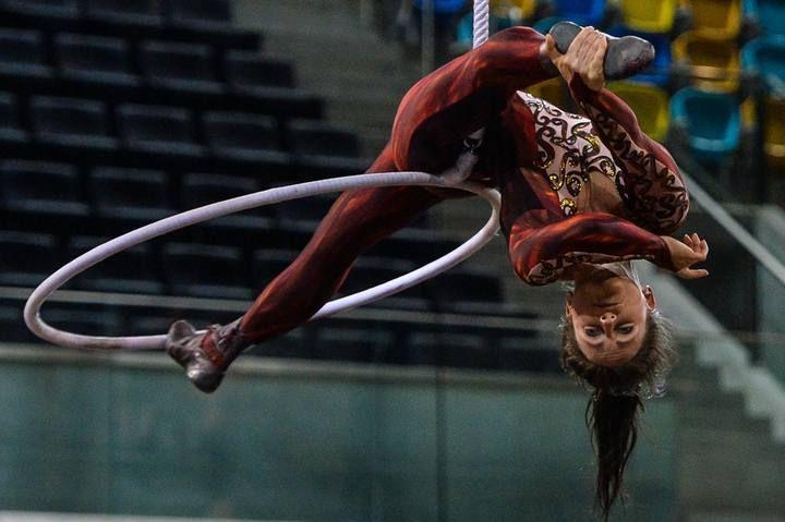 Ensayo y espectáculo del Circo del Sol en el Gran Canaria Arena