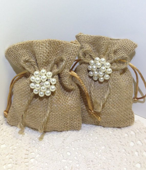 Set of 20 burlap favor bags / 4x5 Burlap bags by ElianasTreasures, $60.00