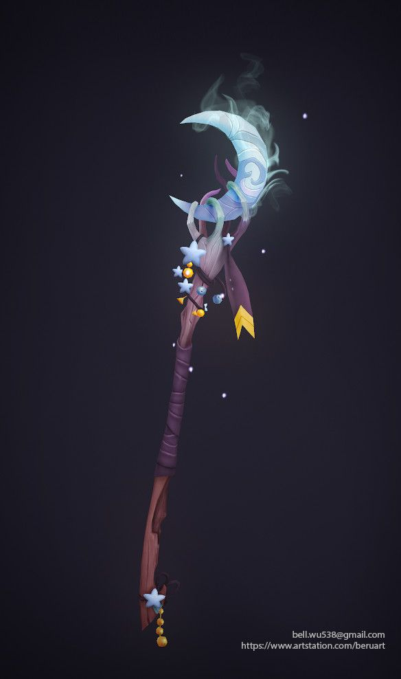 Artstation Magical Staff Design Hanne K Staff Magic