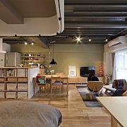 注文住宅/無垢の床/無垢材/カフェスタイル/アイアンブラケット/ホーロー…などに関連する他の写真