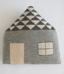 cute knit pillow