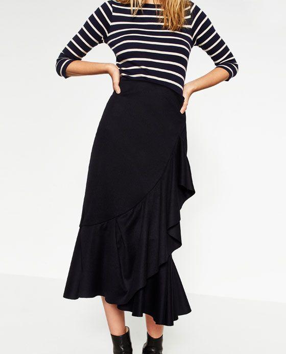 Image 8 of FRILLED SKIRT #joinlife from Zara