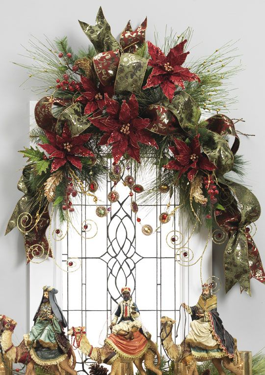 christmas garland ideas decorated swags wreaths renaissance revelry 11570
