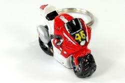 Porte clé moto rouge