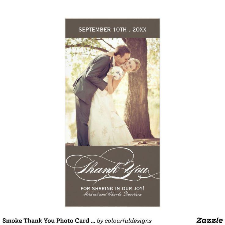 free online printable wedding thank you cards%0A Smoke Thank You Photo Card   x