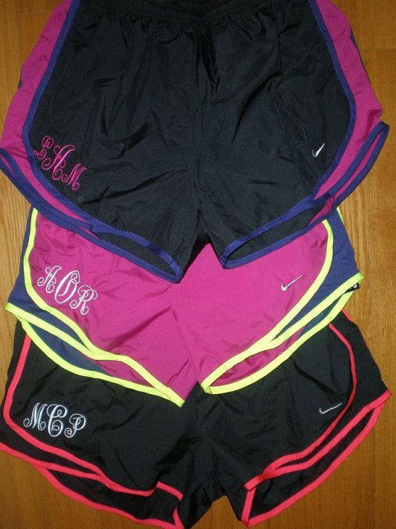 Monogrammed Nike Running Shorts