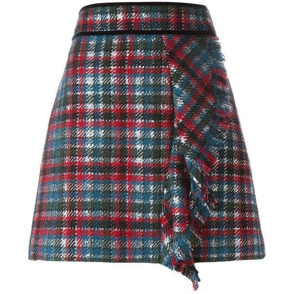 MSGM Tartan Mini Skirt ($367) ❤ liked on Polyvore featuring skirts, mini skirts, multicolour, multi colored skirt, tartan skirt, multicolor skirt, tartan miniskirts and plaid skirt