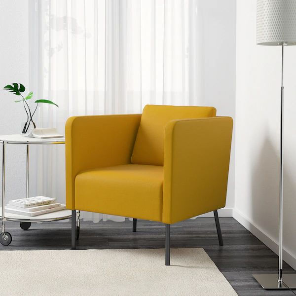 ekerÖ fauteuil skiftebo geel  ikea in 2020  yellow