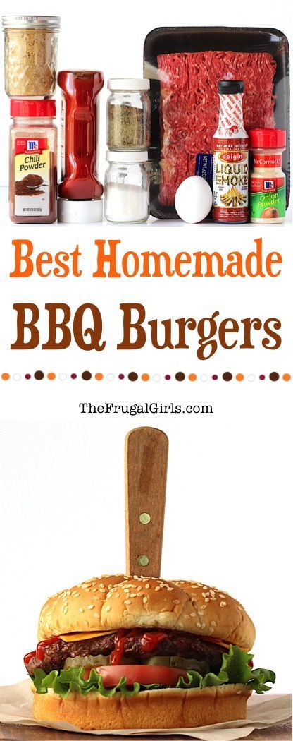 Best Homemade BBQ Burger Recipe Ever! ~ from TheFrugalGirls.com ~ these easy to make burgers are so delicious, infused with smoky barbecue flavors, and perfect for grilling night!