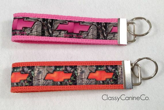 Pink Chevy Girl or Orange Chevy Key Fob Wristlet by lincolnlabel