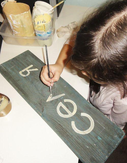 Надпись на деревянной табличке своими руками DIY: Wood Sign