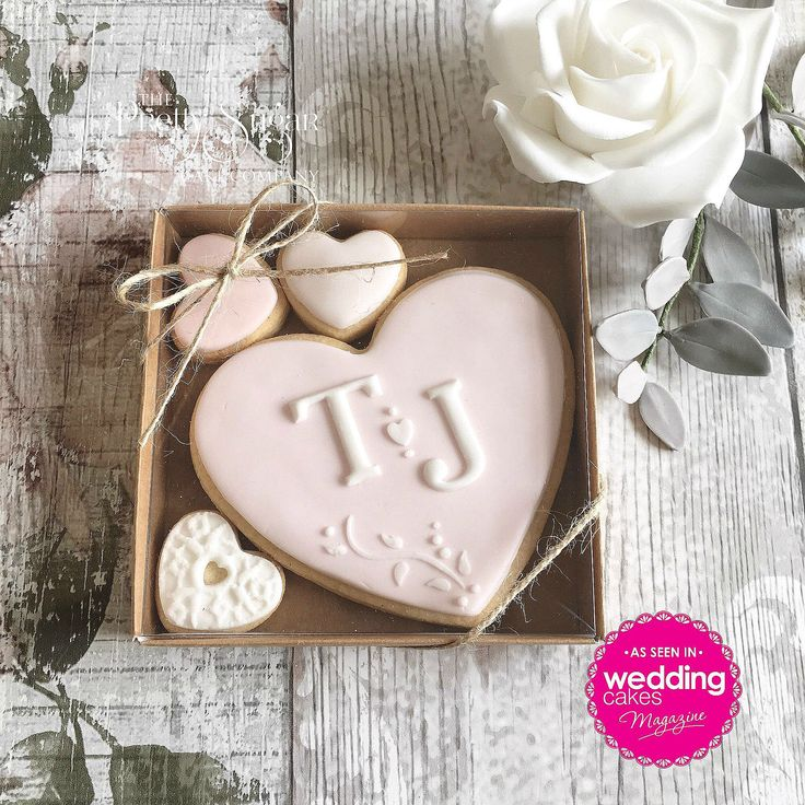 Our personalised wedding cookie favours featured in Wedding Cakes Magazine Autumn 2017 edition