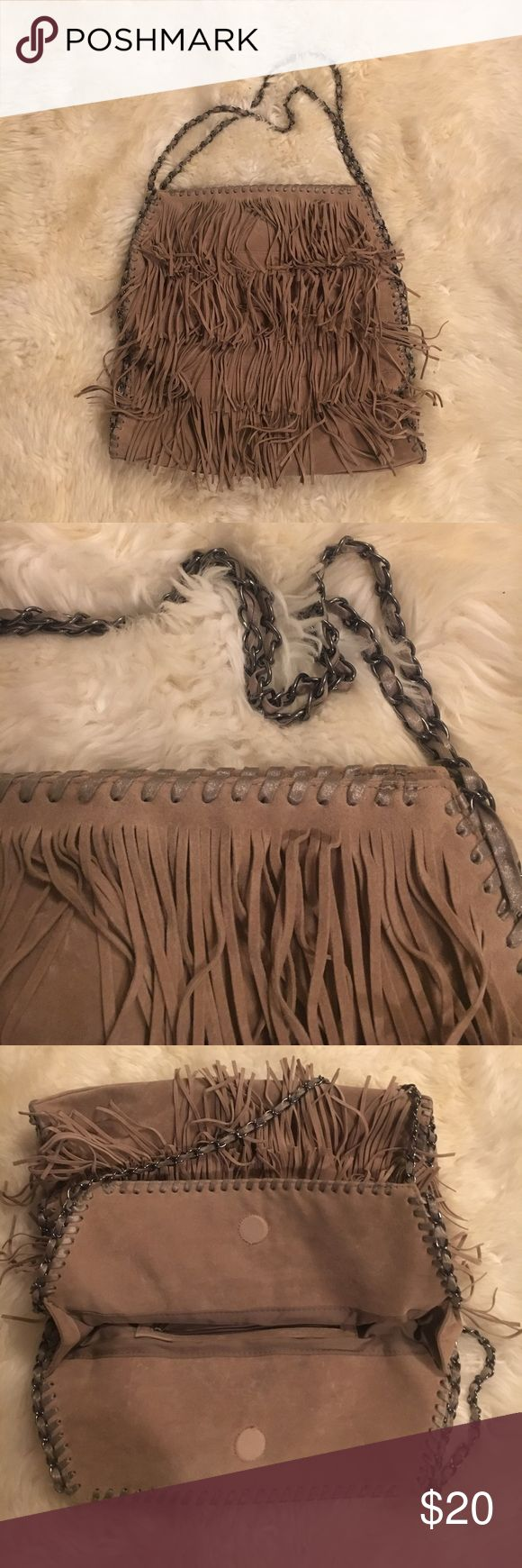 Stella McCartney style Boston Proper fringe bag Boston Proper fringe bag. The same style as Stella McCartney fringe bag. Much lower weight. Very clean. Huge sale of my closet now. Boston Proper Bags Totes