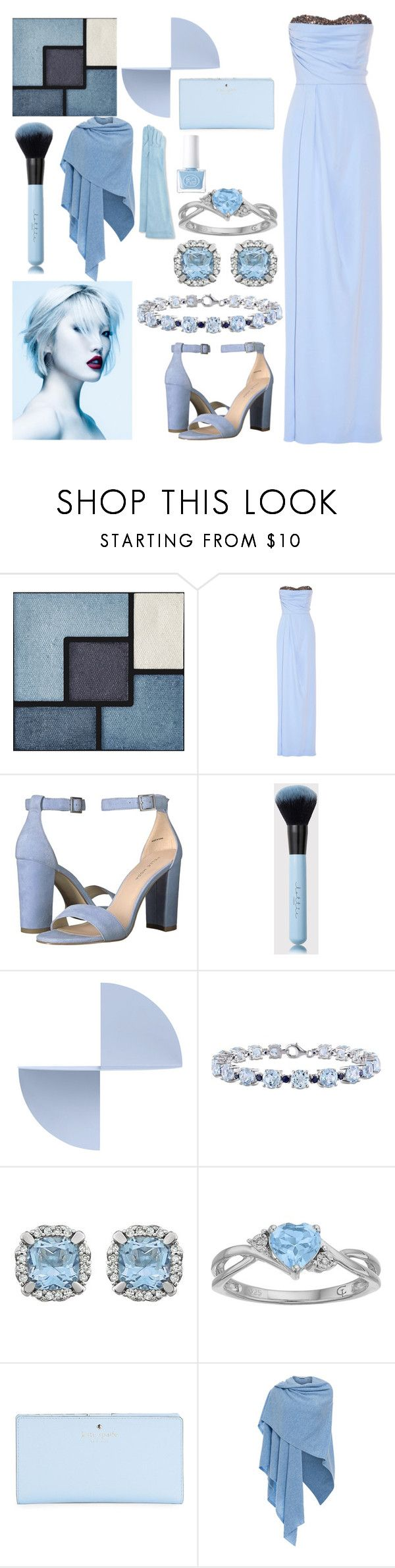 """Pretty Powder"" by jayme-becker ❤ liked on Polyvore featuring Yves Saint Laurent, Notte by Marchesa, Pelle Moda, HAY, Miadora, Kate Spade, Kinross and Guanti Giglio Fiorentino"