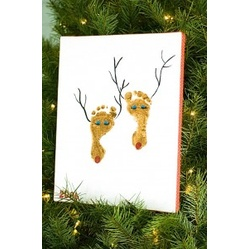 Footprint Reindeer  #Christmas #Craft Ideas for #Kids