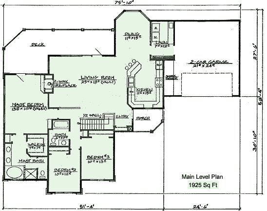 Ranch floor plans walkout basement and floor plans on for Ranch basement floor plans