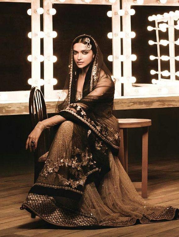 Deepika Padukone Designer Heavy work Sabyasachi by MYDELHISTORE