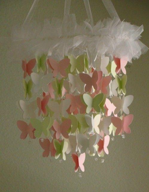 Handmade Paper Butterfly Mobile