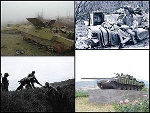 Armenia -Imágenes de la Guerra de Nagorno Karabaj (1988-1994).