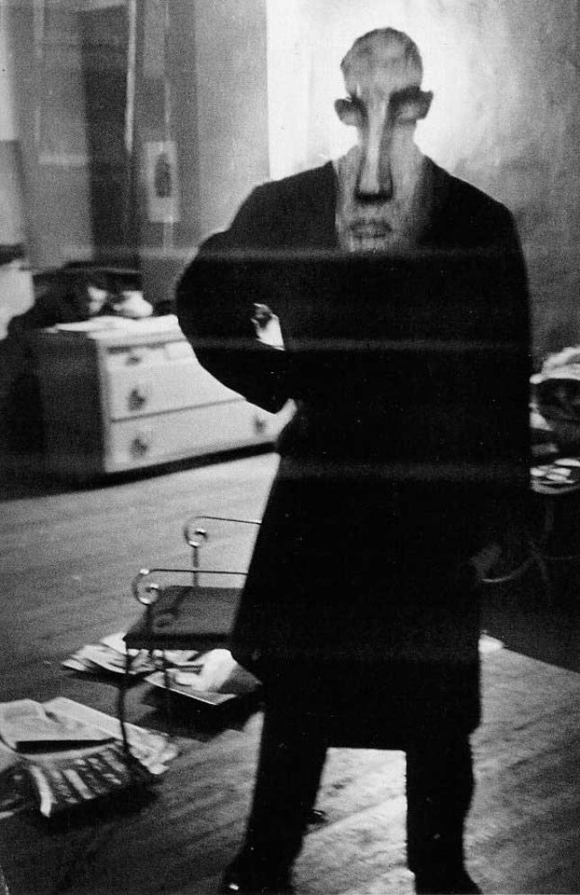 Louis Faurer. George Barrows in Robert Frank's Loft, New York, N.Y., 1947-1949