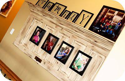 Old door and crown molding.....love!