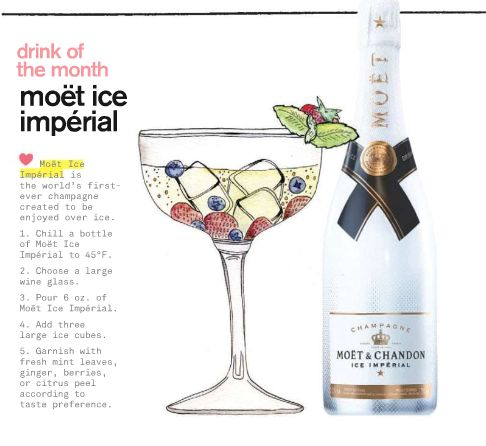 how to drink moet ice imperial