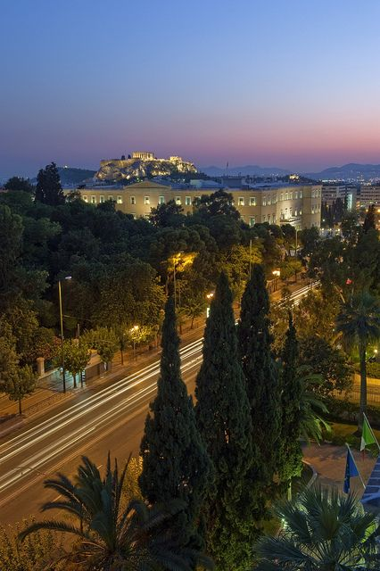 ~The Greek Parliament and the Acropolis, Athens, Greece~