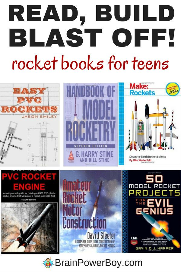 Hands-on DIY rocket projects! Read the books, build the rockets and send them into the sky. This book list has a great selection of rocket books for teens. Model rocketry is packed with learning opportunities and your teens will be excited to shoot off their own rocket! Homeschoolers will love these projects!! #homeschooling #teen #rockets #booklist #booksforteens