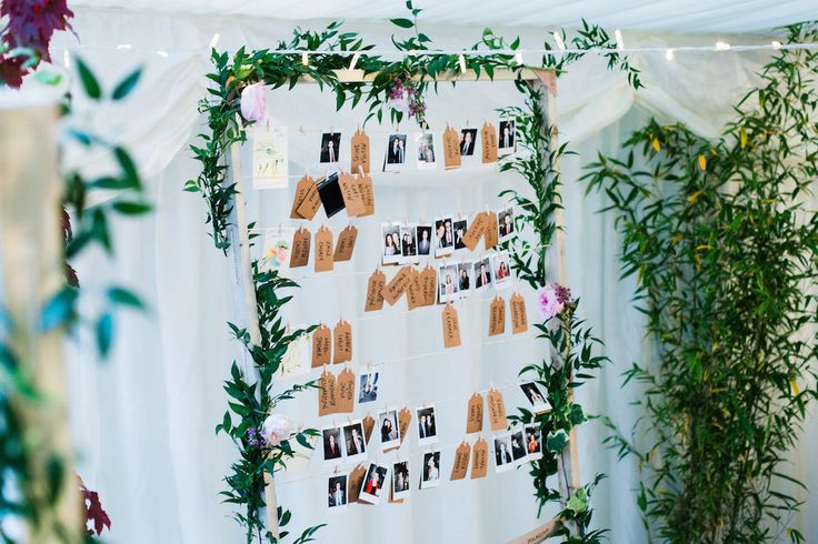 Table Plan - Sassi Holford Dress | Relaxed At Home Wedding With A Marquee | Images by Deborah Grace Photography