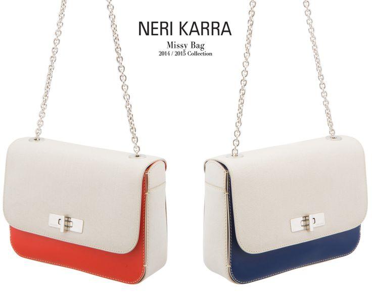 The new Missy bags.        Orange & beige lizard-effect.       Blue & beige lizard-effect.