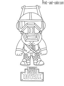 Fortnite battle royale coloring page DJ Yonder party